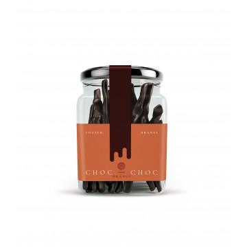 Kandizovaná pomarančová kôra v čokoláde 120g sklenná dóza